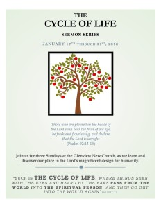 The Cycle of Life Sermon Series – begins January 17th