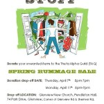 Spring Rummage Sale – April 16!