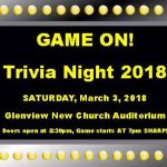 Game On! Trivia Night 2018 – Saturday March 3